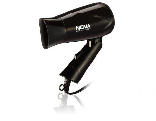 Nova NHP 8100 Silky Shine 1200 W Hot and Cold Foldable Hair Dryer (Black)