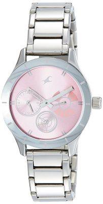 Analog Pink Dial Women's Watch - 6078SM07