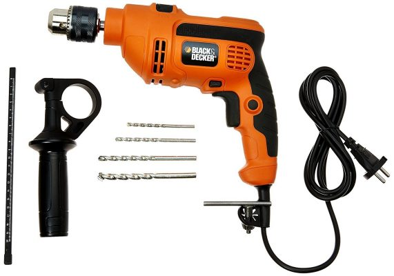 Black & Decker KR554RE 550-Watt Reversible Hammer Drill Machine