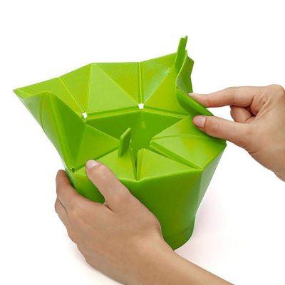 ELECTROPRIME Kitchen Foldable Silicone Microwave Popcorn Maker