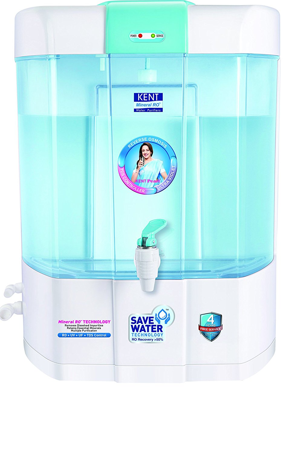 2fcfc277f85 Kent Pearl 8-Litre Mineral RO+UV+UF Water Purifier - Tech All In One