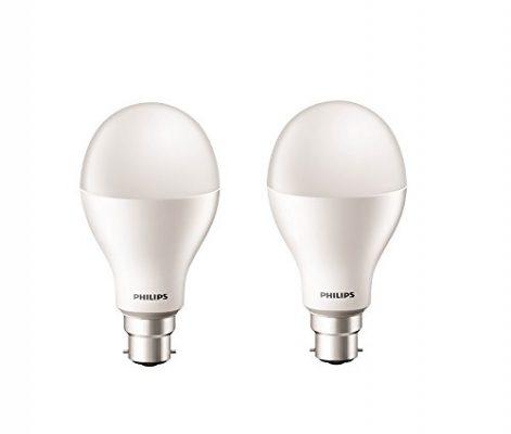 Philips Stellar Bright 20-Watt Round LED Bulb (Pack of 2, Cool Day Light)