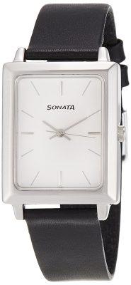 Sonata Classic Analog Silver Dial Men's Watch -NK7078SL03