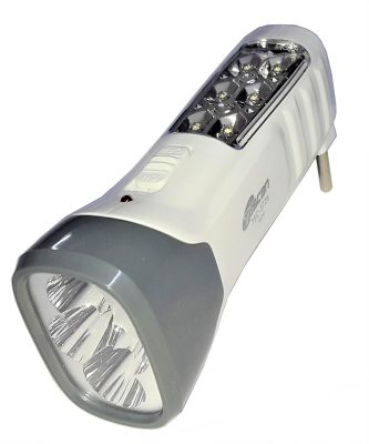 Tuscan Double Pannel Rechargeable LED Torch (White)