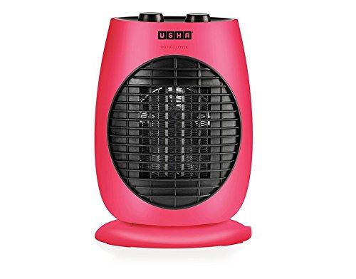 Usha Fan Heater (3638 PTC) 2000-Watt with Triple Safety Protection (Pink)