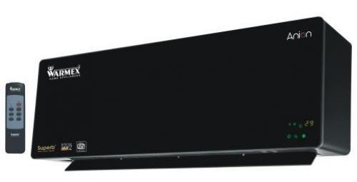 Warmex Superb Wall Mount 2000-Watt PTC Heater Fan (Black)