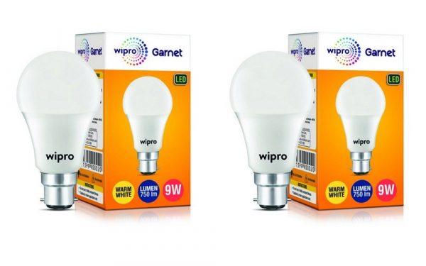 Wipro Garnet N90002 Base B22 9-Watt LED Bulb