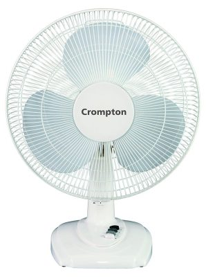 Crompton High Flo Eva Table Fan (White)