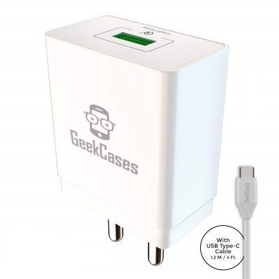 Geekcases Gc-Qc1U-Tc Zipcube Qc3.0 Wall Charger