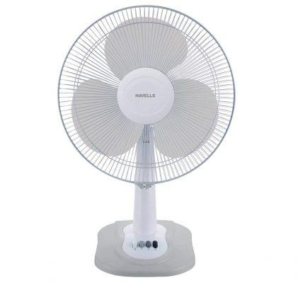 Havells Swing ZX Table Fan (Light Grey)