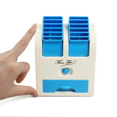 Vmoni Plastic Dual Bladeless Air Conditioner