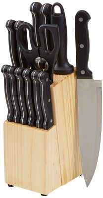 AmazonBasics Stainless Steel Knife Set