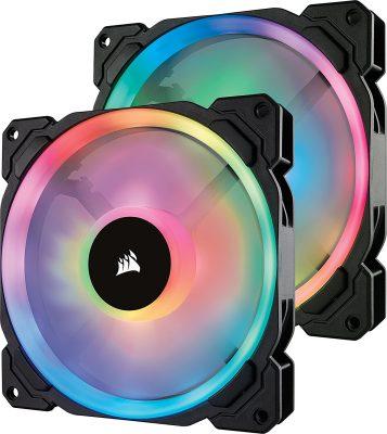 Corsair LL Series LL140 RGB 140mm Dual Light Loop RGB LED PWM Fan 2 Fan
