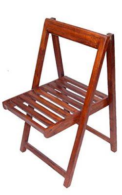 Modish Brown Colour Wooden Folding Chair