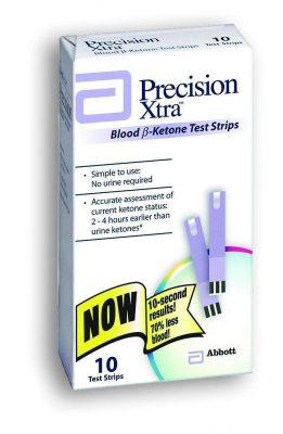 Precision Brand Xtra Blood Ketone Test Strips