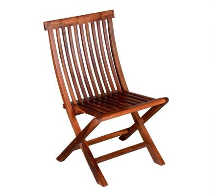 SANTOSHA DECOR Sheesham Wood Pre-Assemble Comfortable Folding Chair