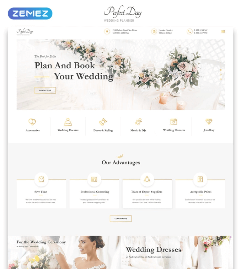 Perfect Day Website Template